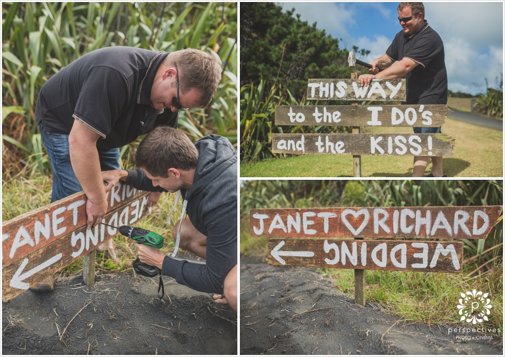 Handmade wedding signs Auckland
