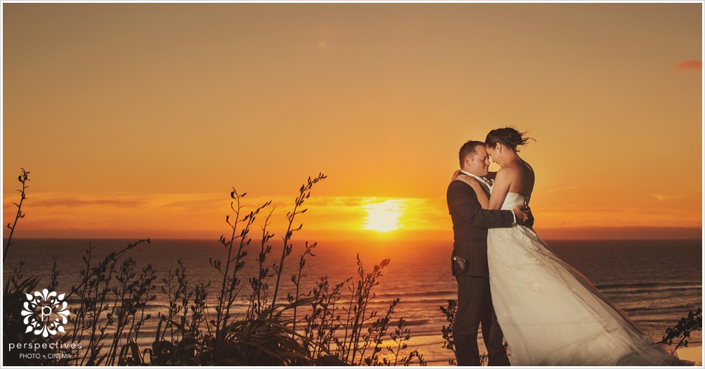 Castaways wedding sunset photos