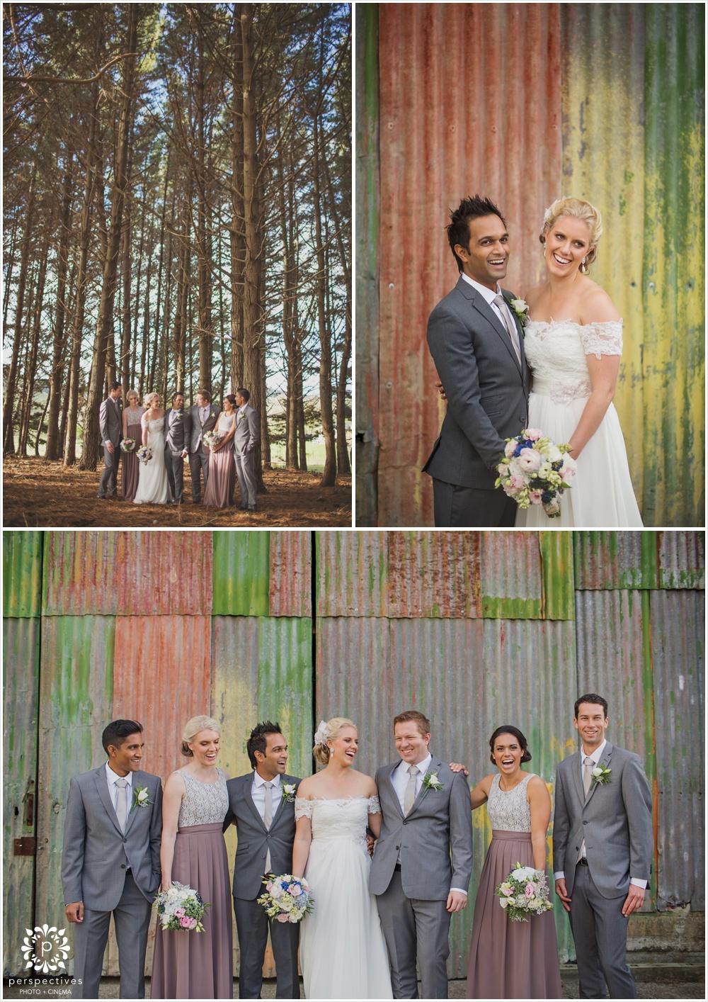 Old barn Auckland wedding