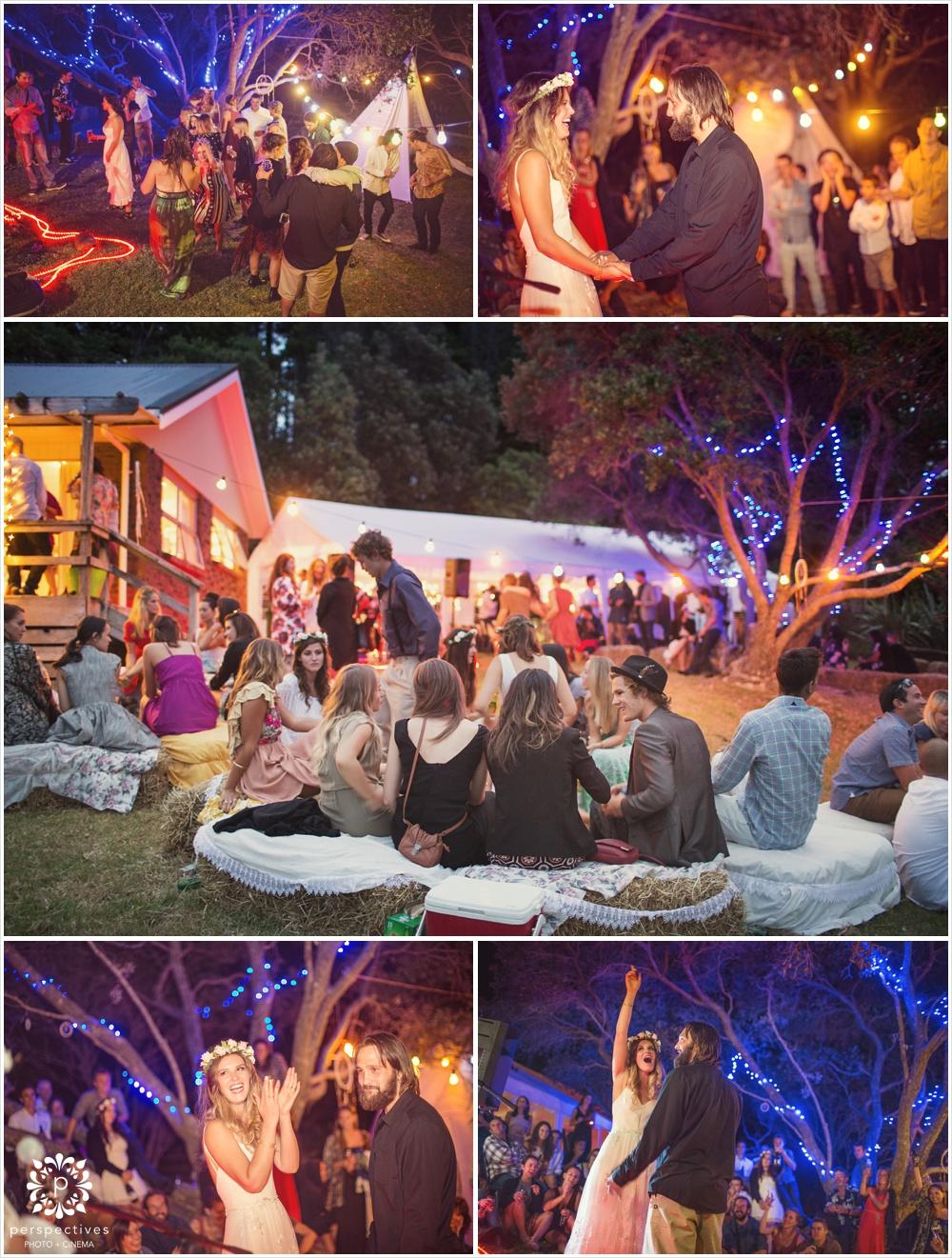 Rustic outdoor Auckland wedding