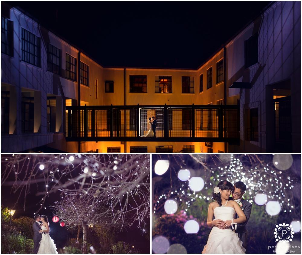 Auckland night wedding photos