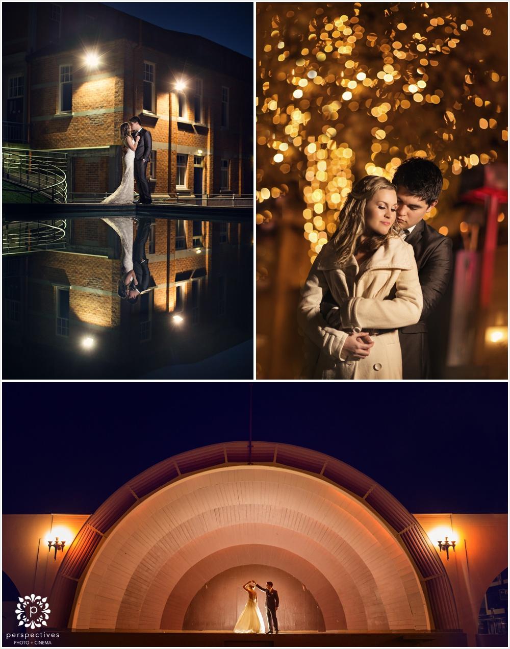 Auckland night wedding photo