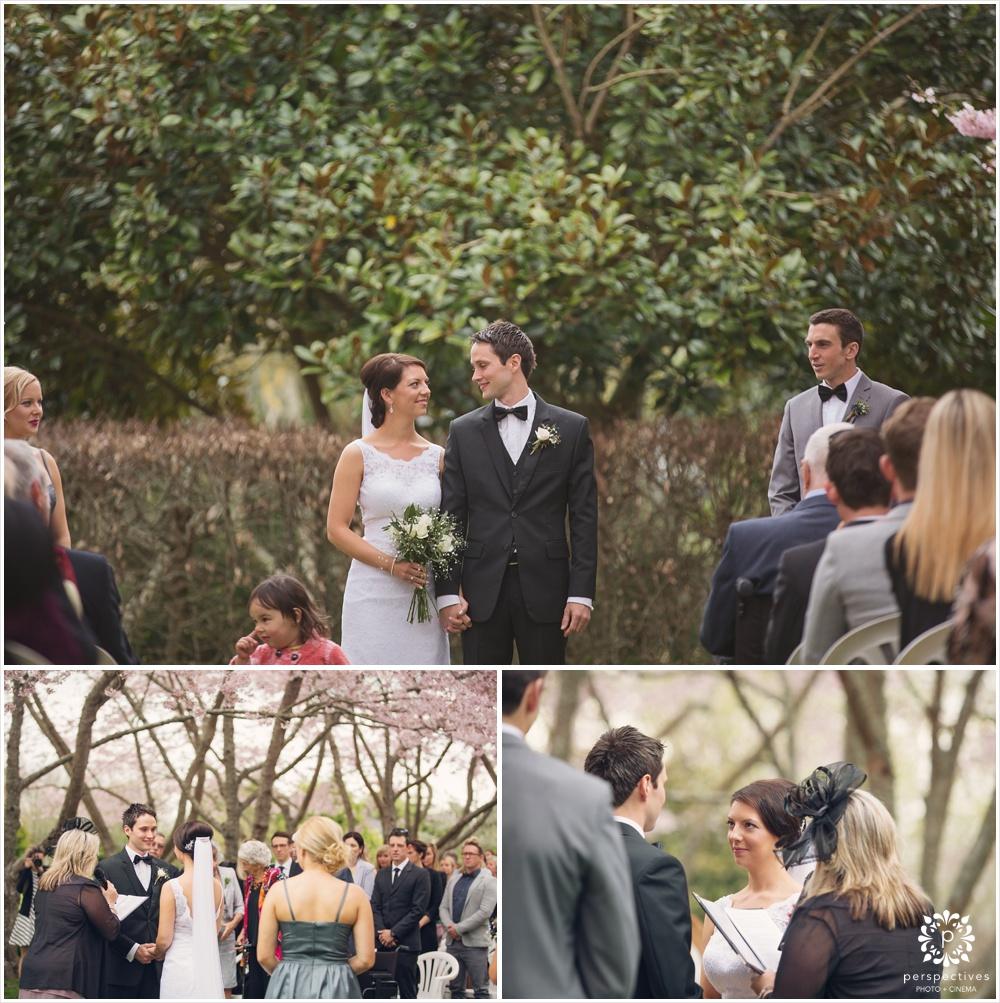 Sarnia park cherry blossom wedding