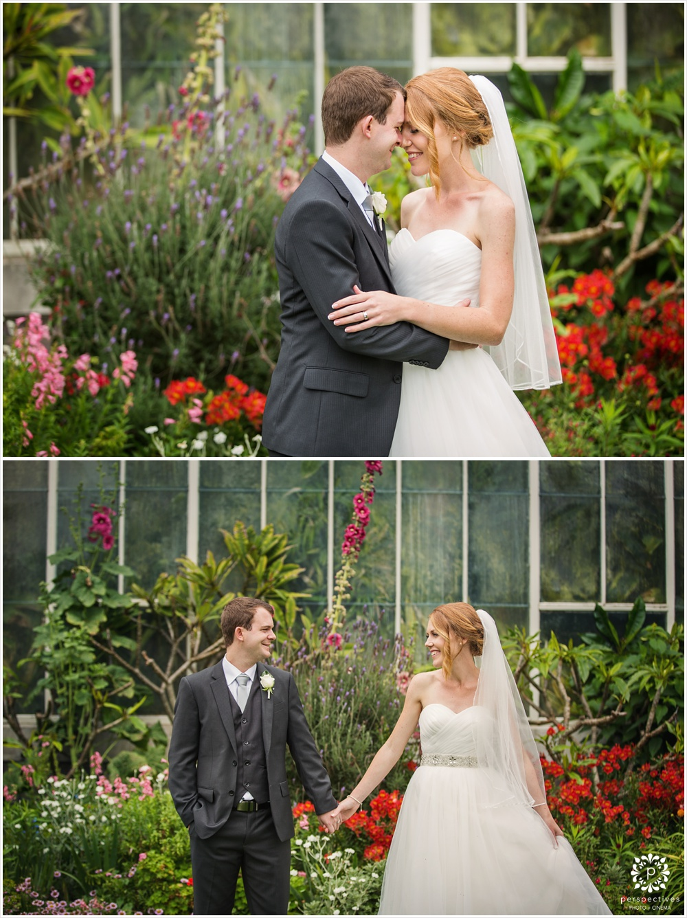 Auckland winter gardens wedding photos