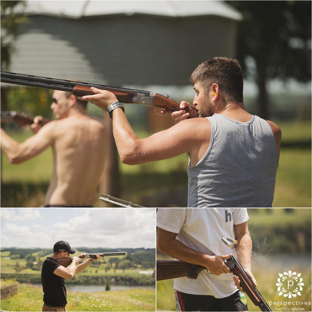 wedding clay target shooting