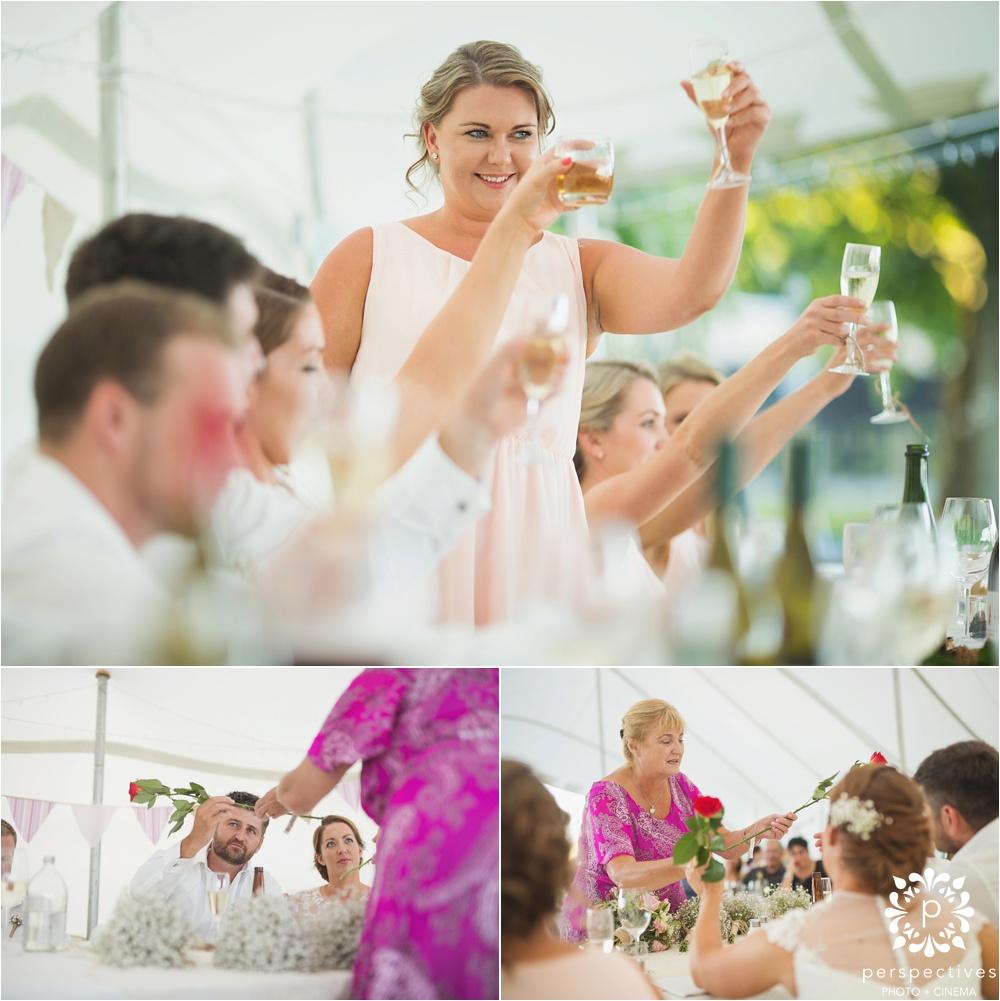 Rustic marquee wedding Hamilton