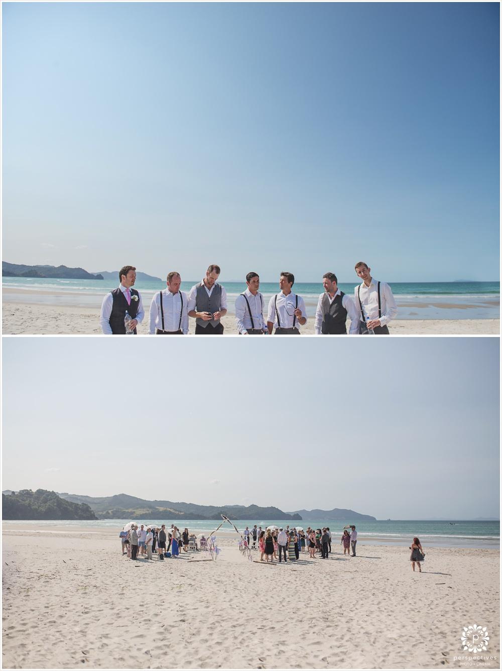Matarangi beach wedding
