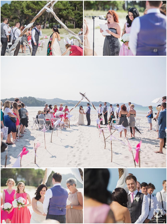Beach wedding coromandel