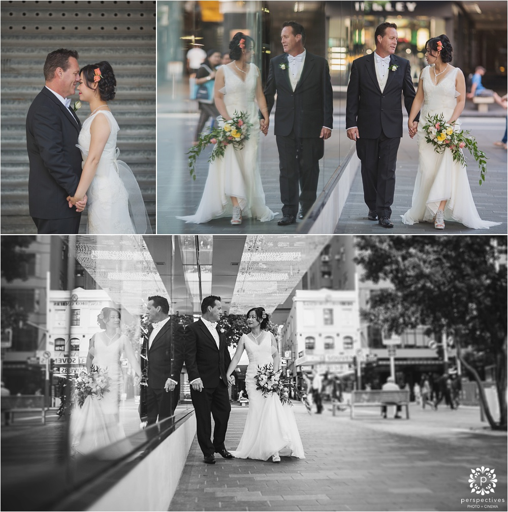 Auckland urban city wedding photos