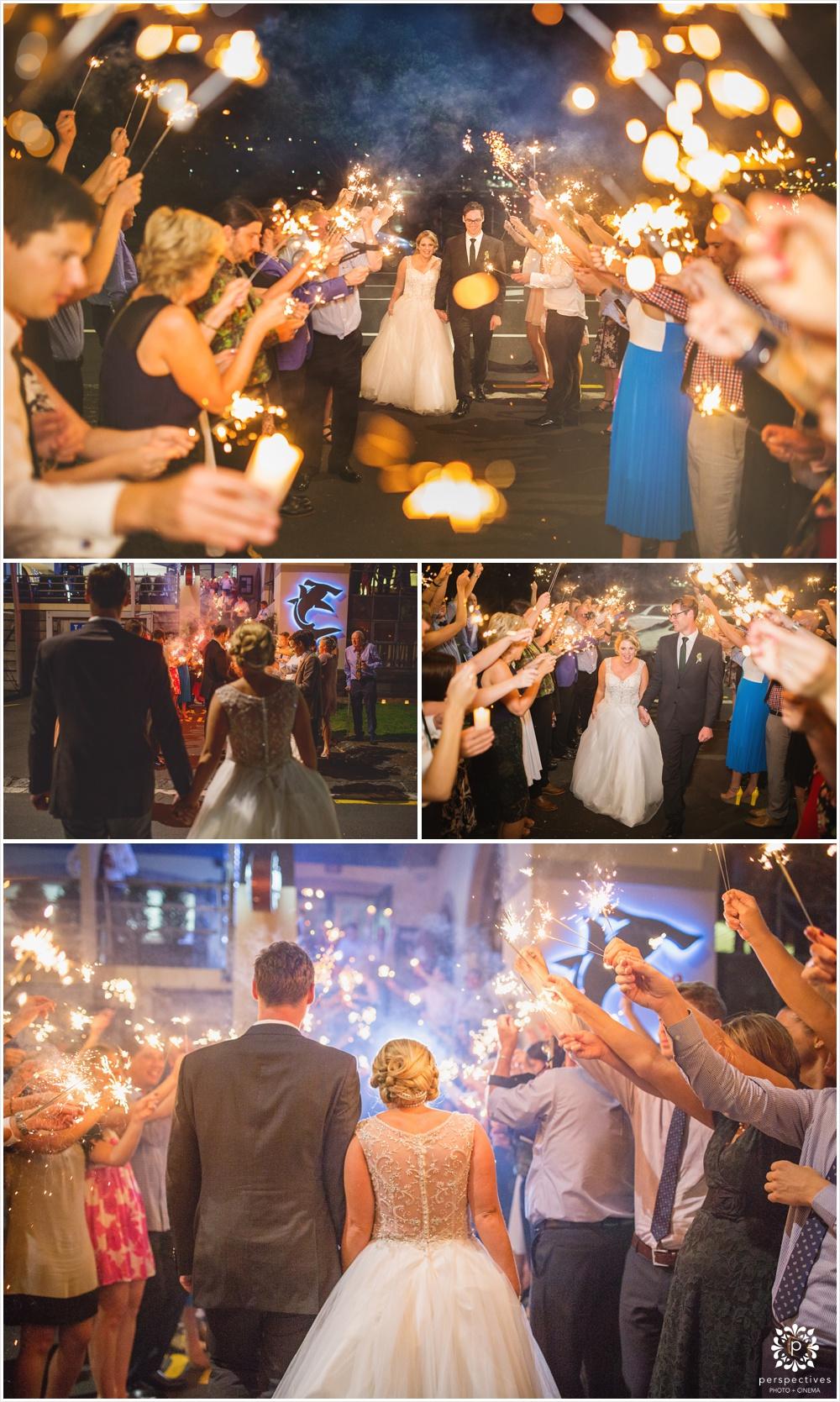 auckland sparkler wedding photos