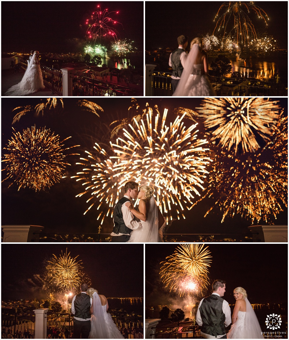 Fireworks wedding photos nz