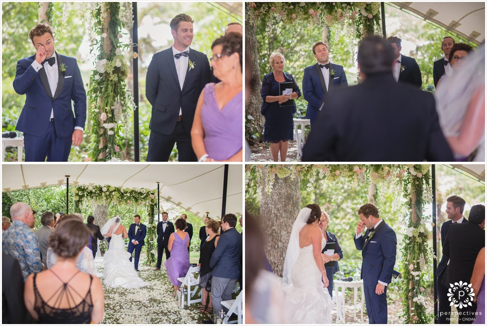woodlands gordonton wedding ceremony