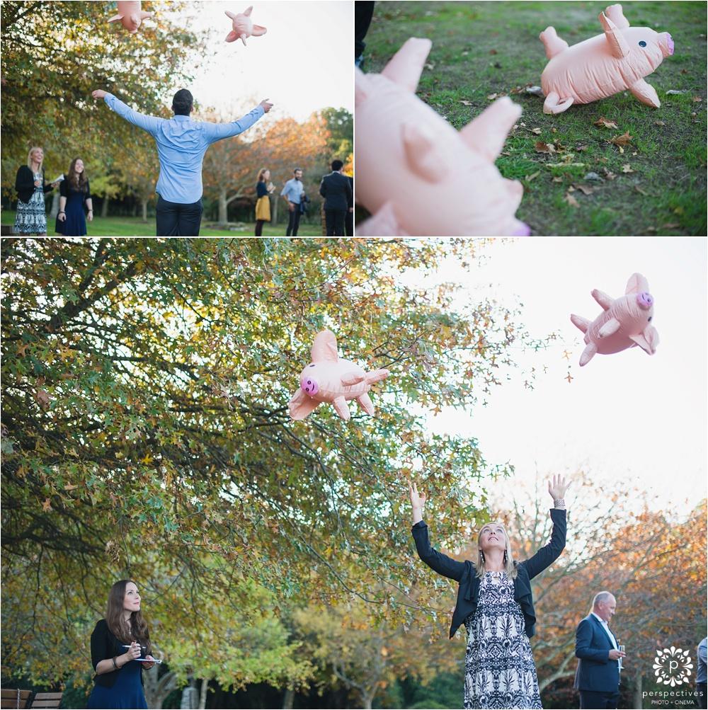 Throwing pigs game wedding NZ