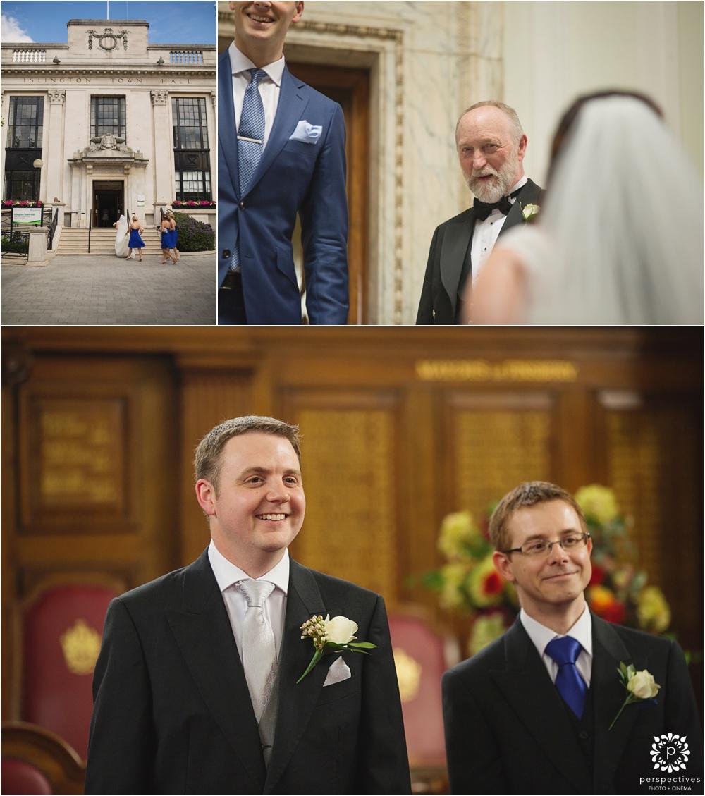 Islington Town Hall London wedding