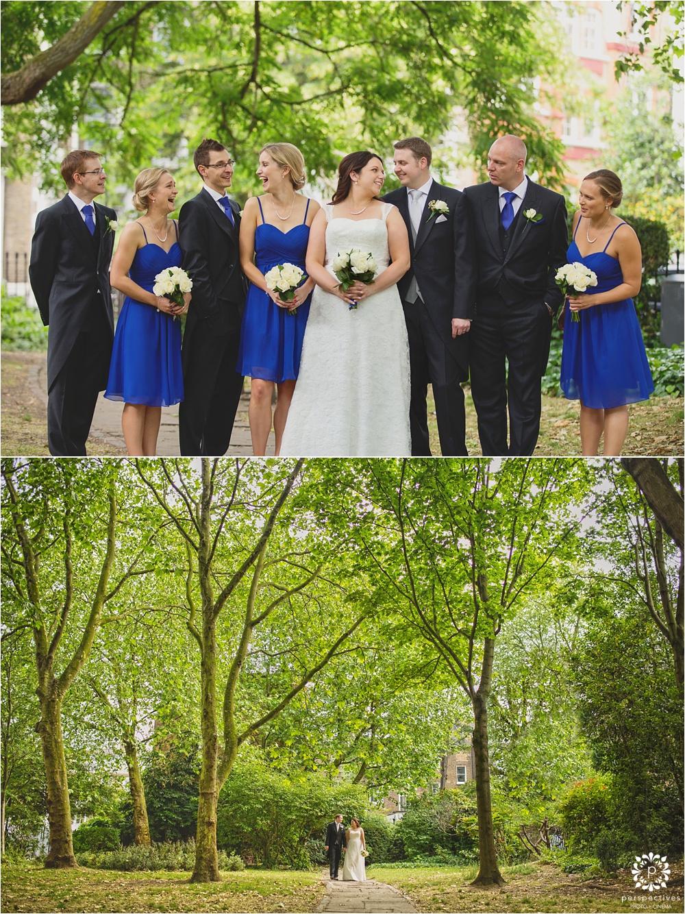 Artistic wedding photos near Islington Town Hall London