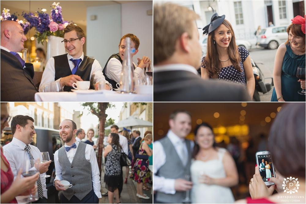 Almeida restaurant Islington wedding photos