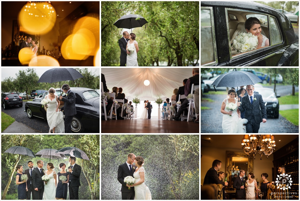 rain wedding photos