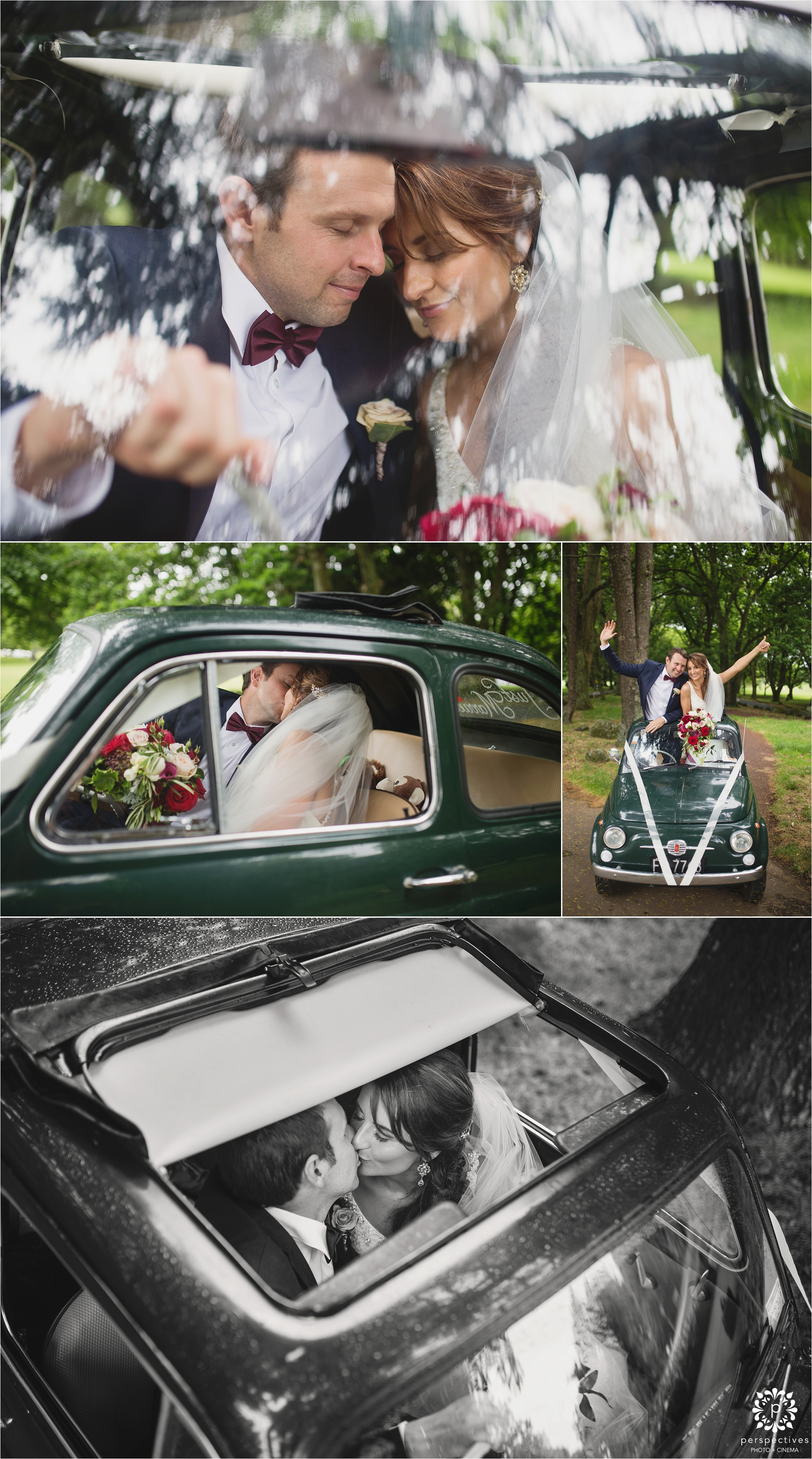 cute wedding car photos