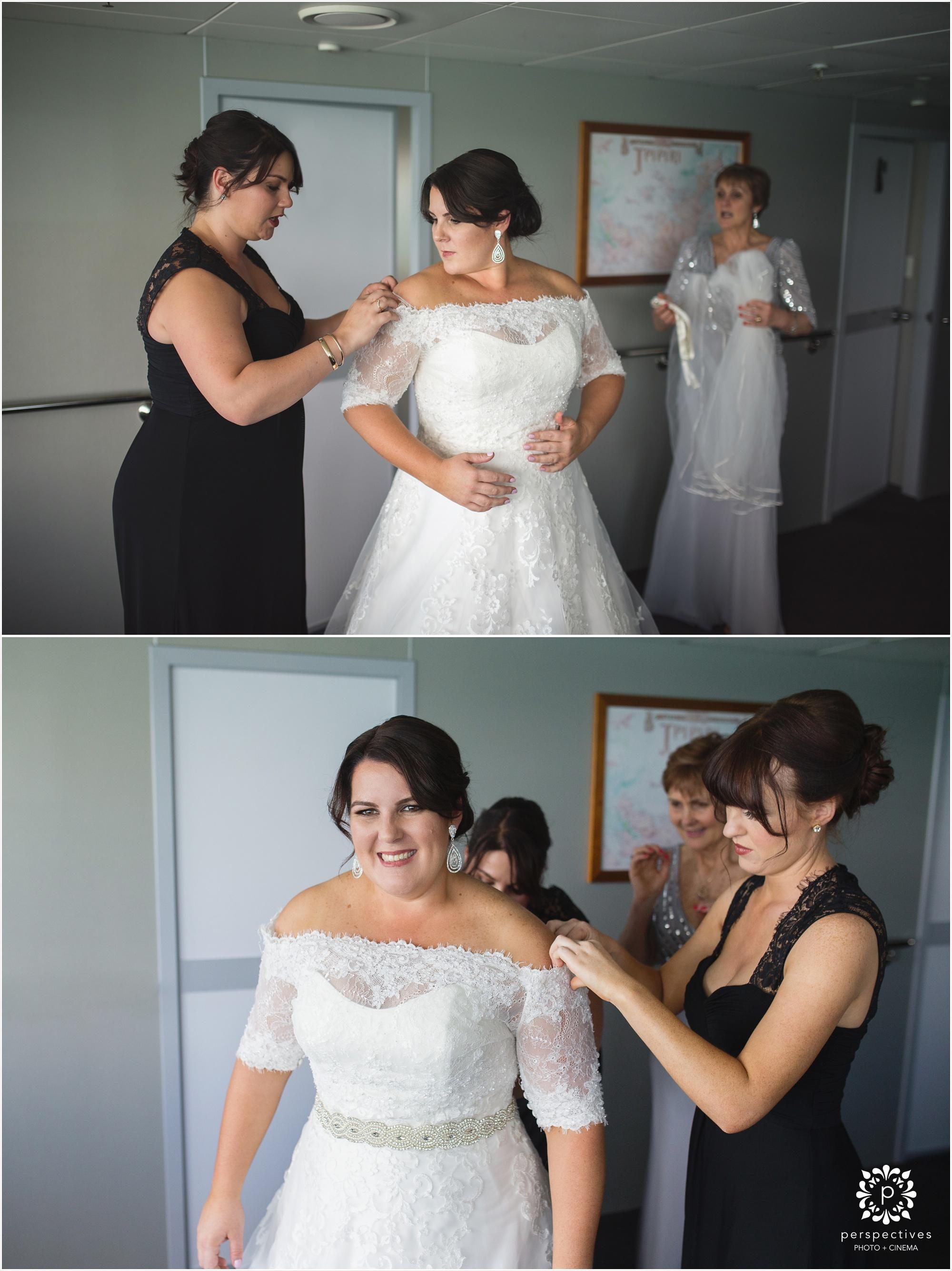 Hauraki blue wedding photos