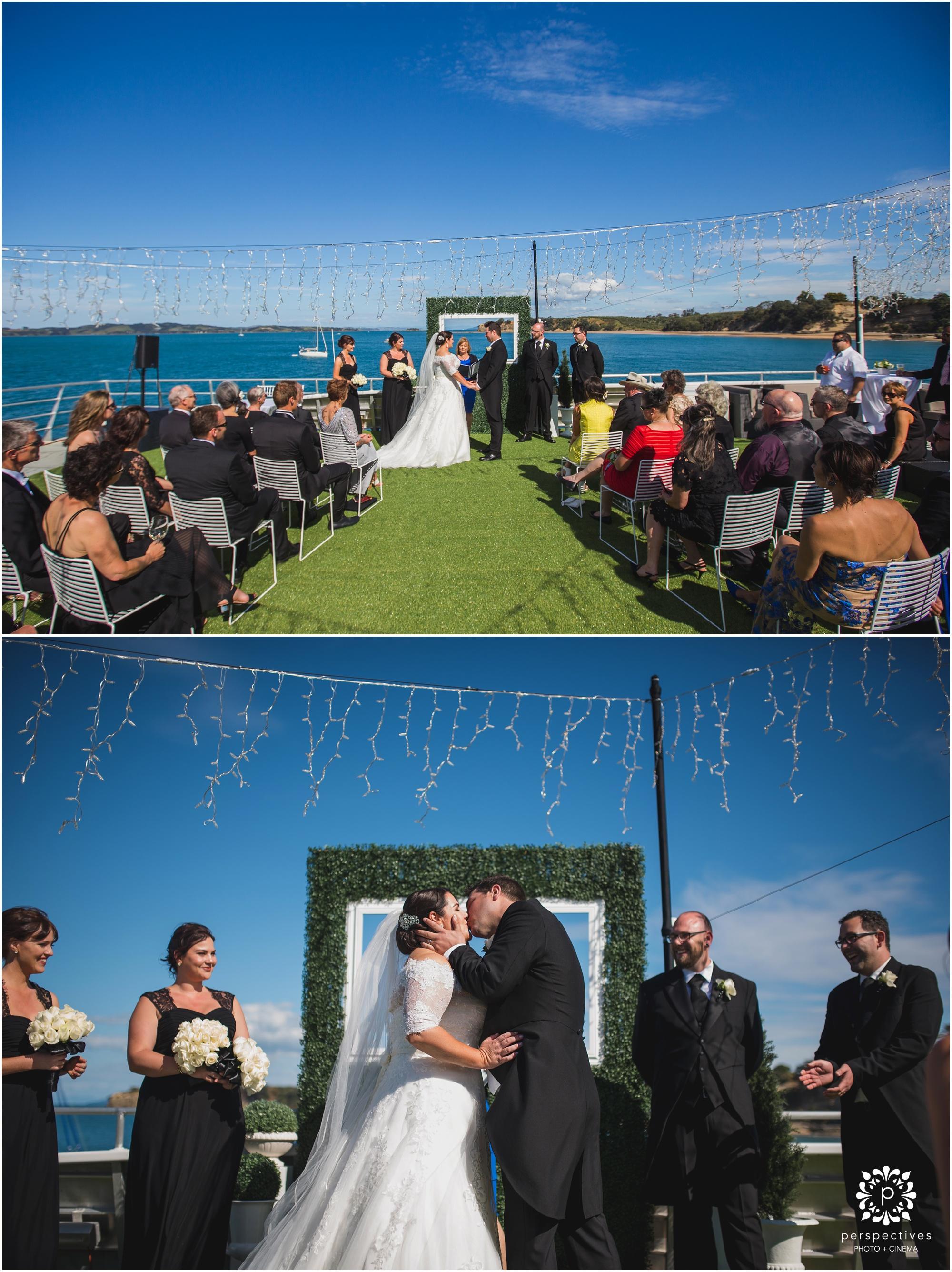 Hauraki blue cruises wedding