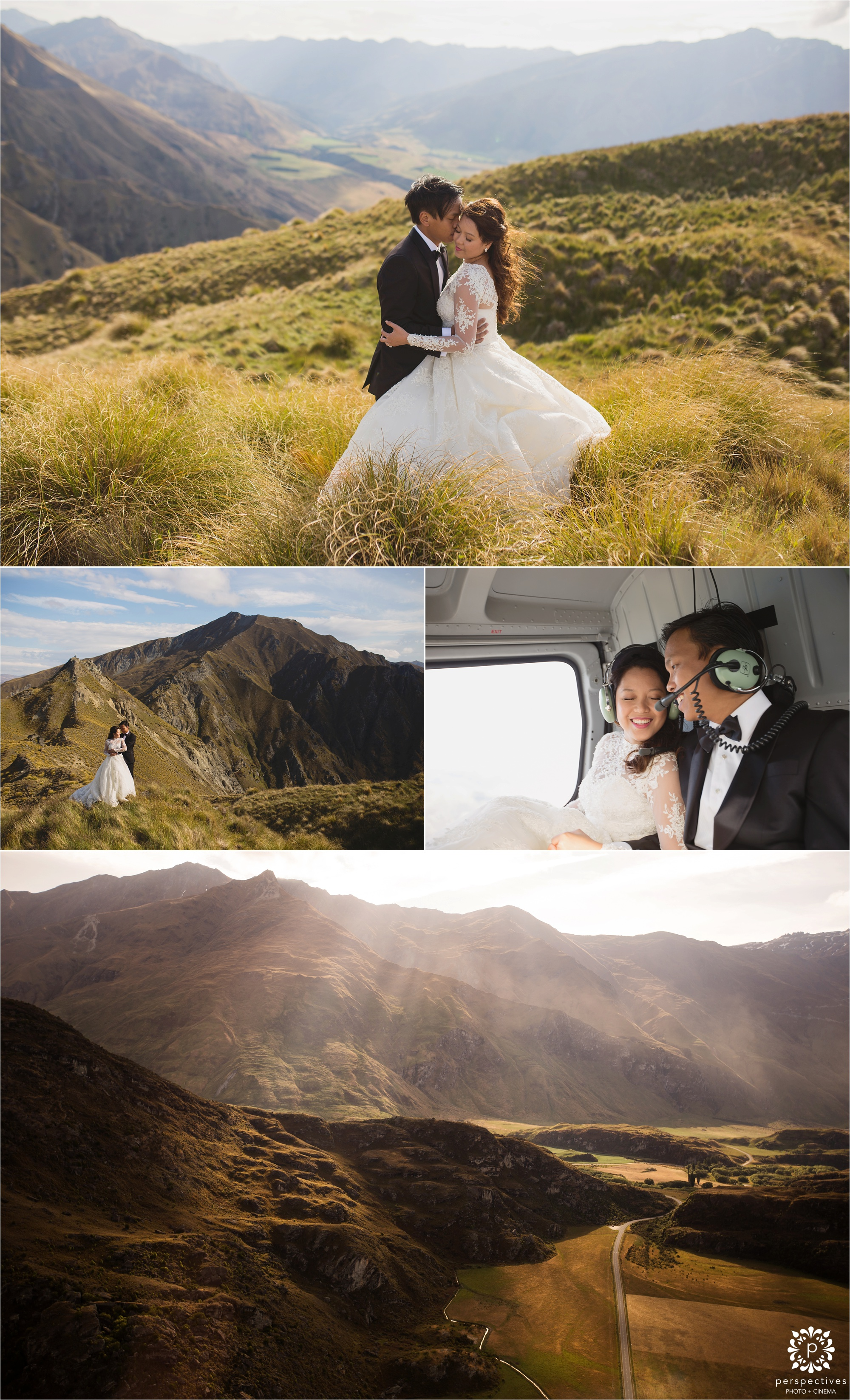 Queenstown helicopter wedding photos