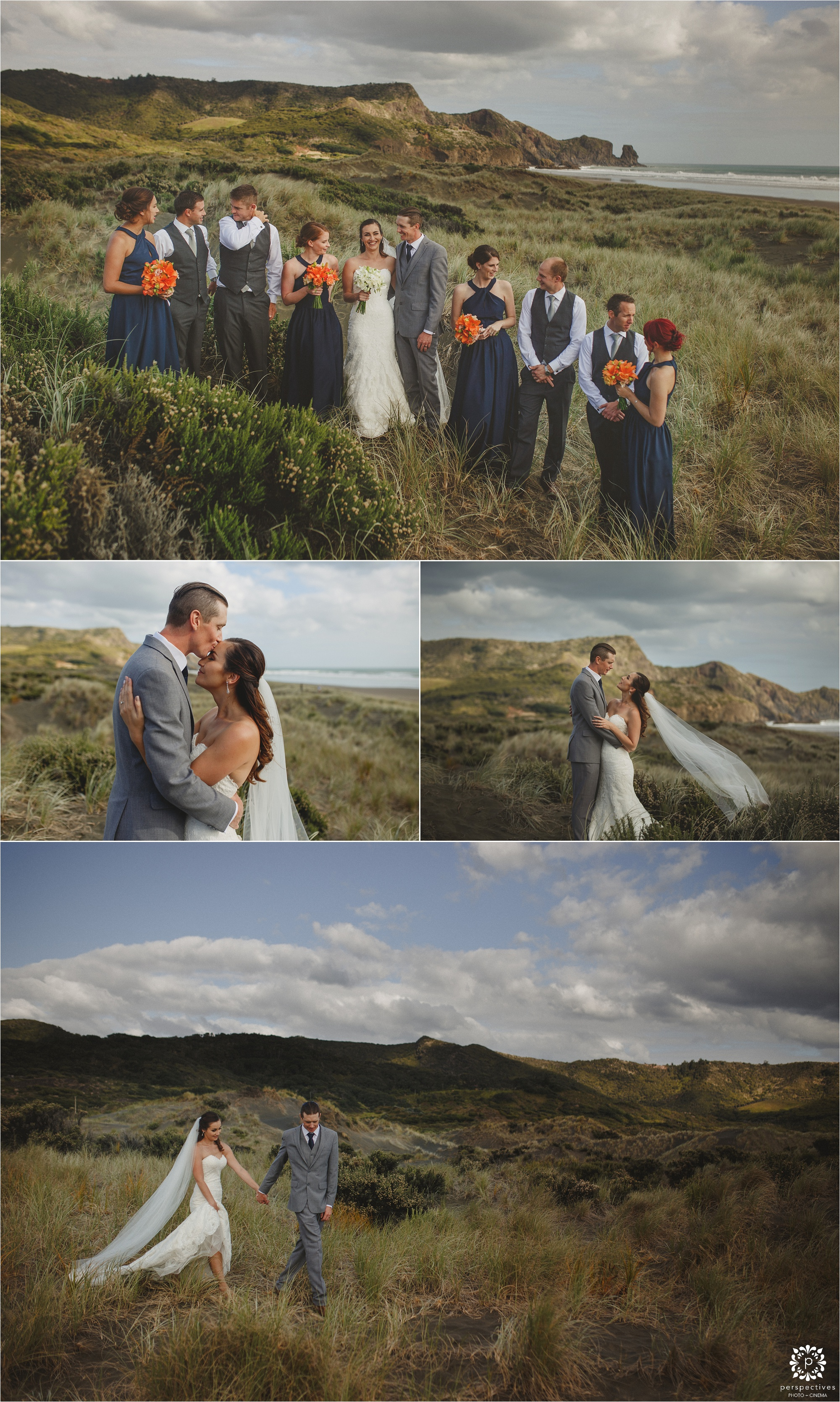 Bethells beach wedding photos Auckland