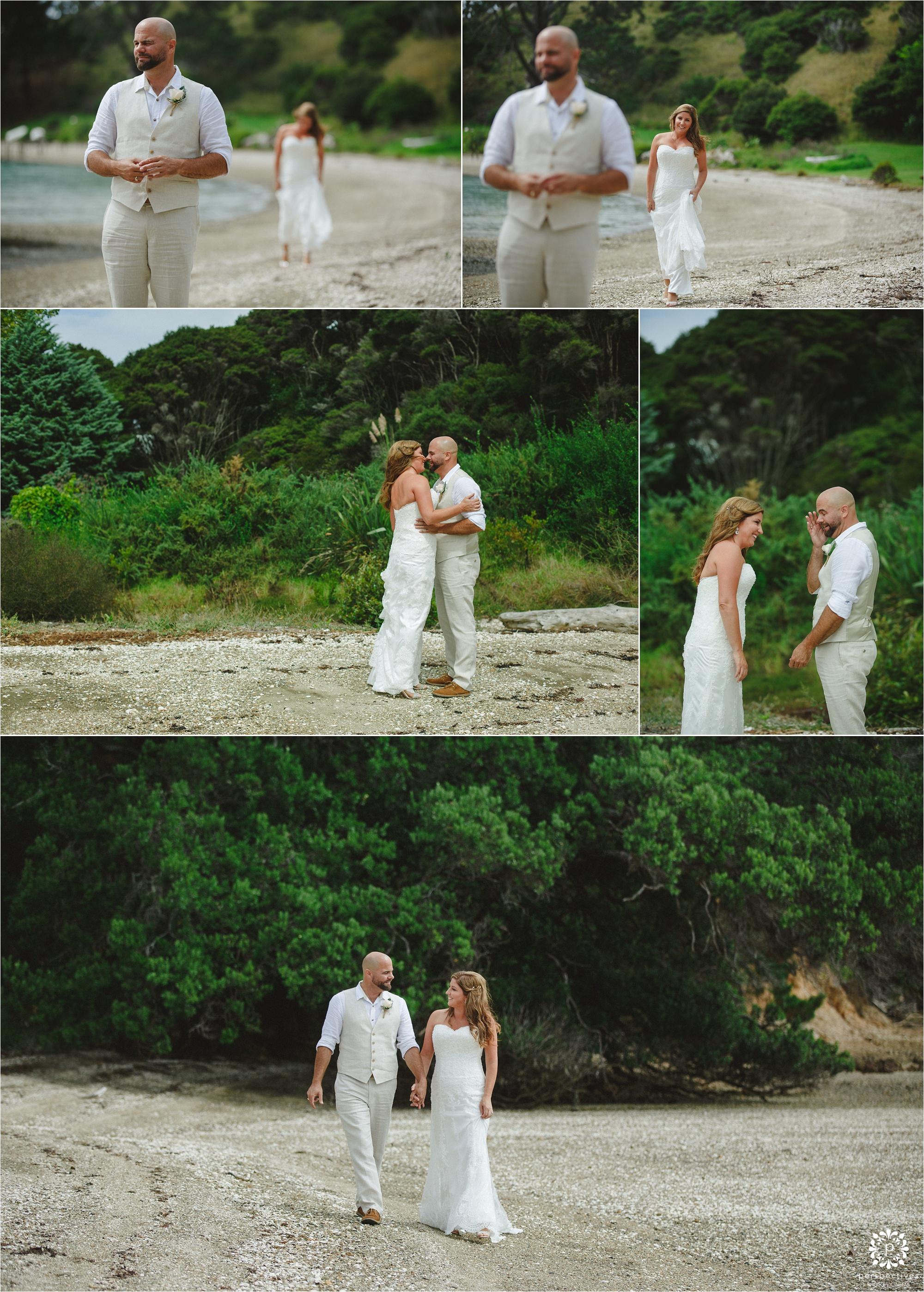 Oakura Bay villa Waiheke wedding
