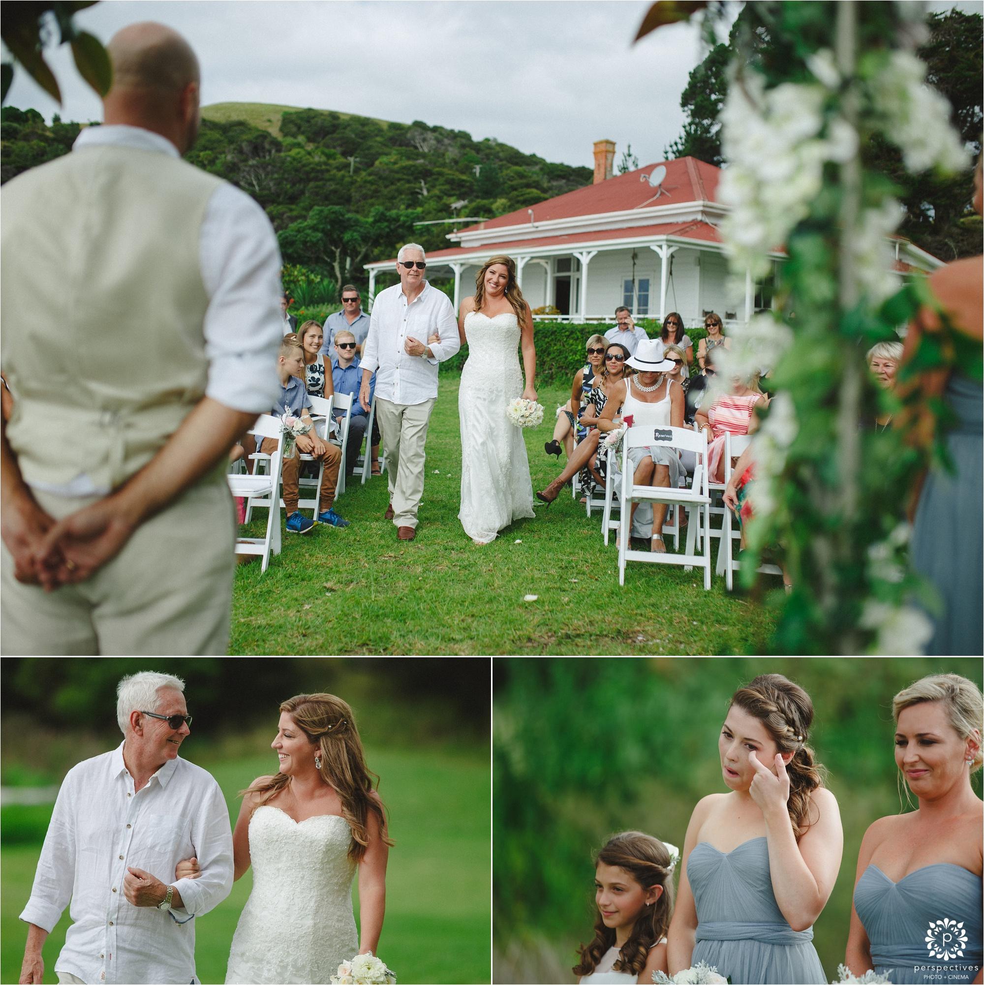 Oakura Bay Waiheke wedding