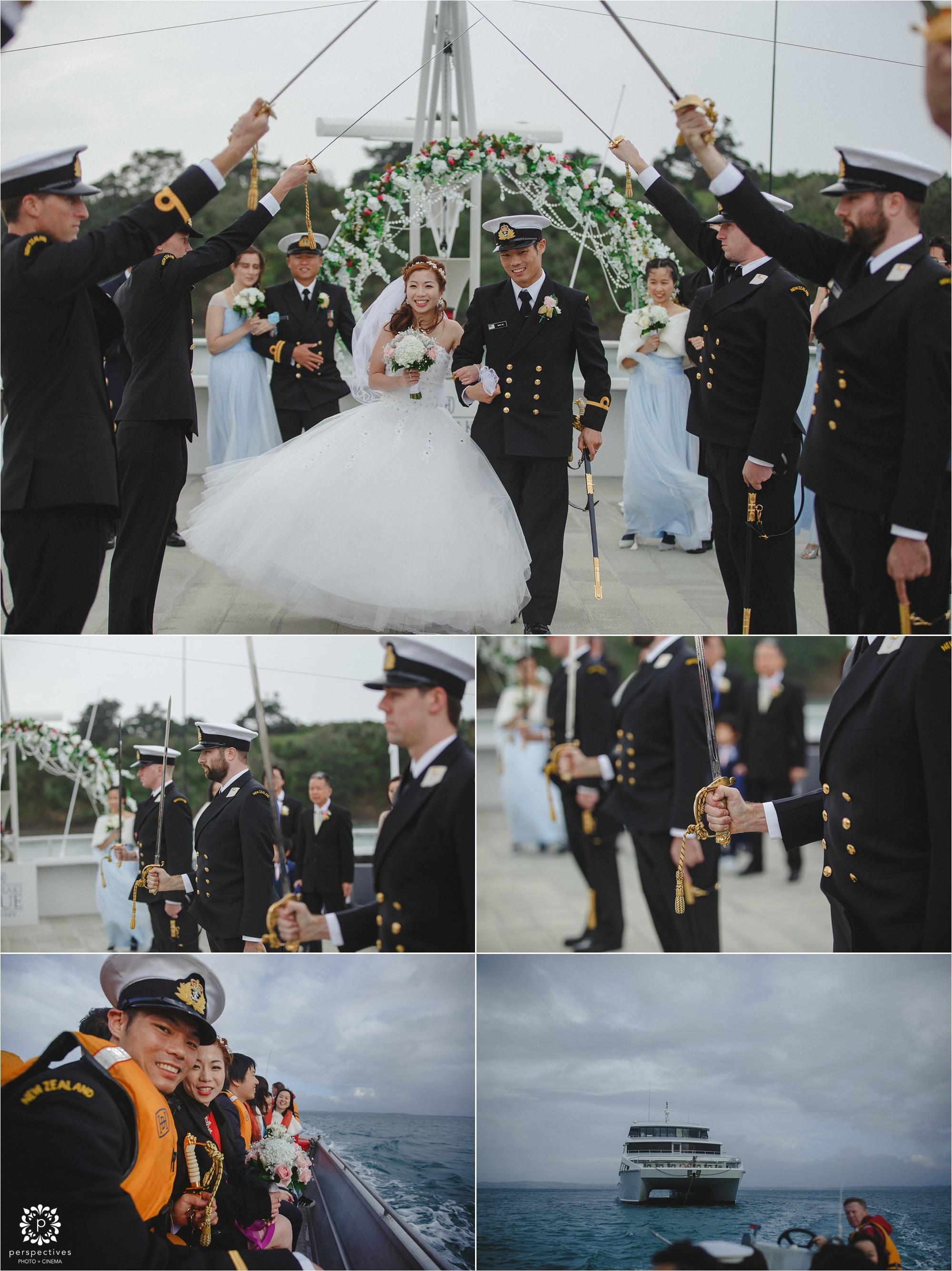 hauraki blue boat wedding auckland