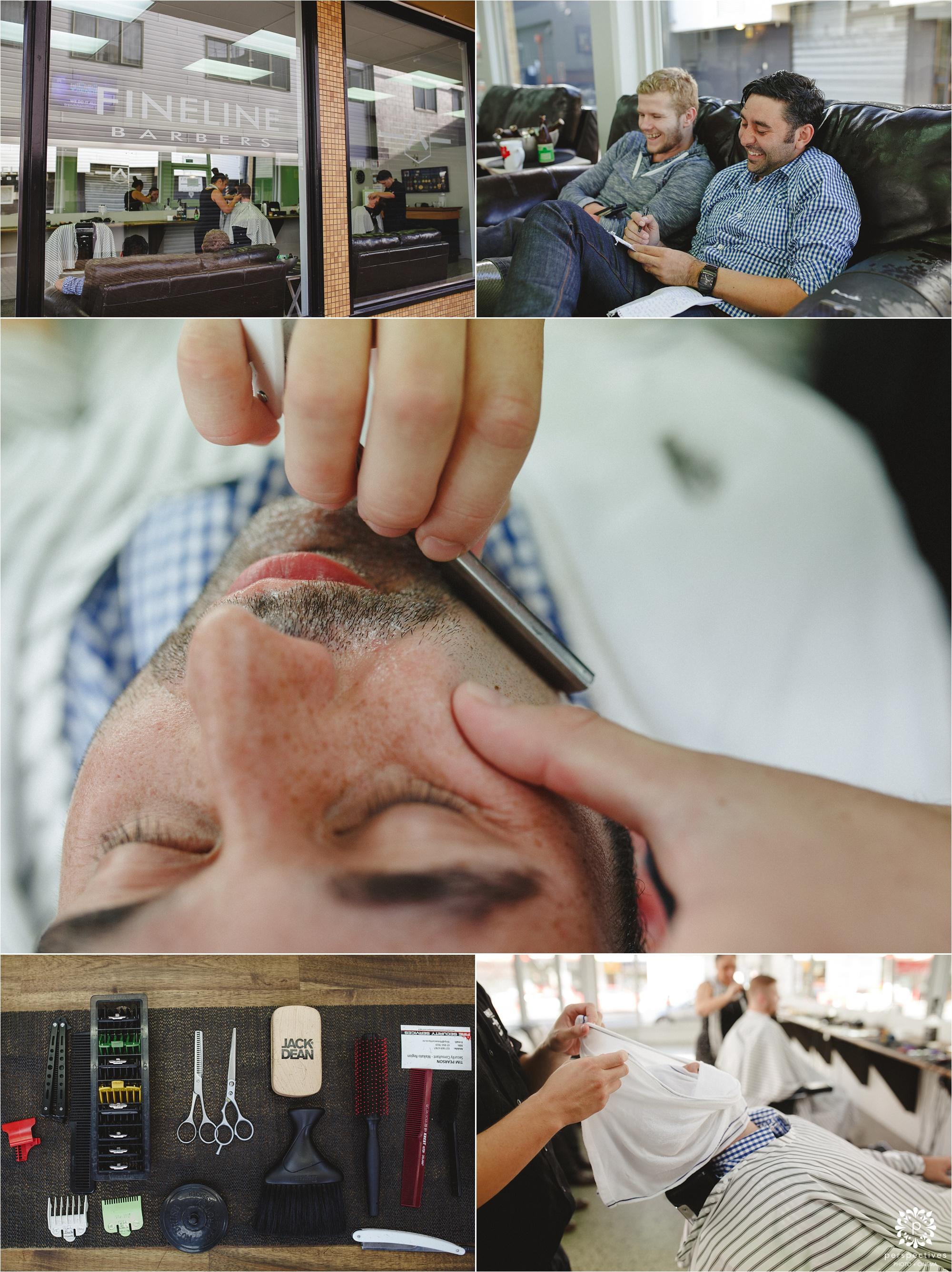 Hot shave barbers Hamilton