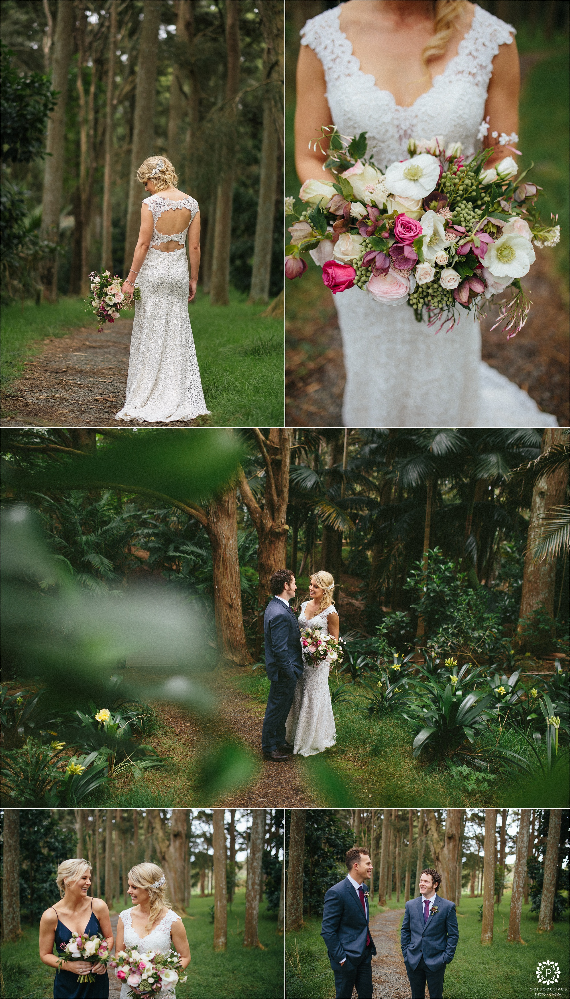 Auckland botanic gardens wedding photos