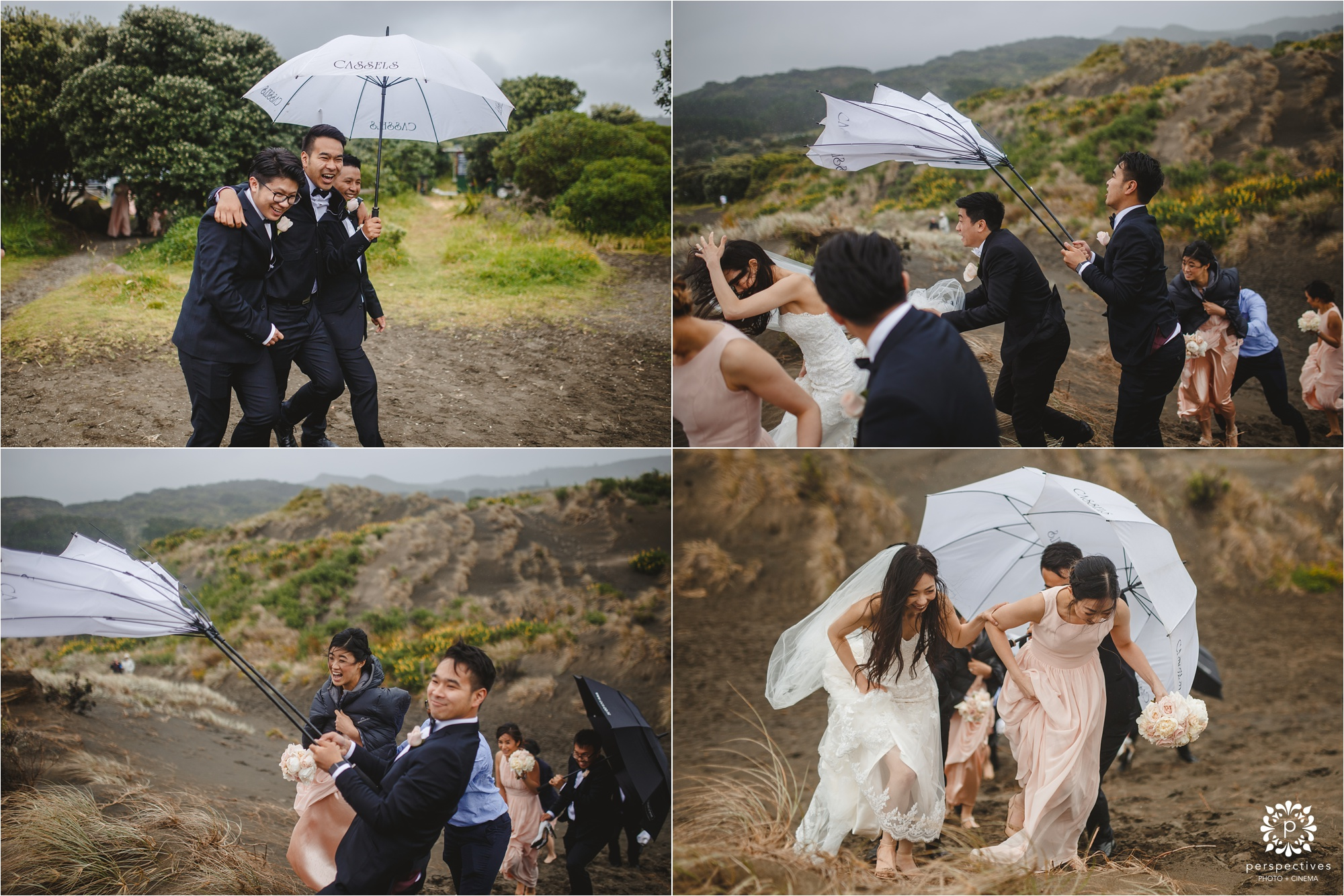 bethells beach wedding photos