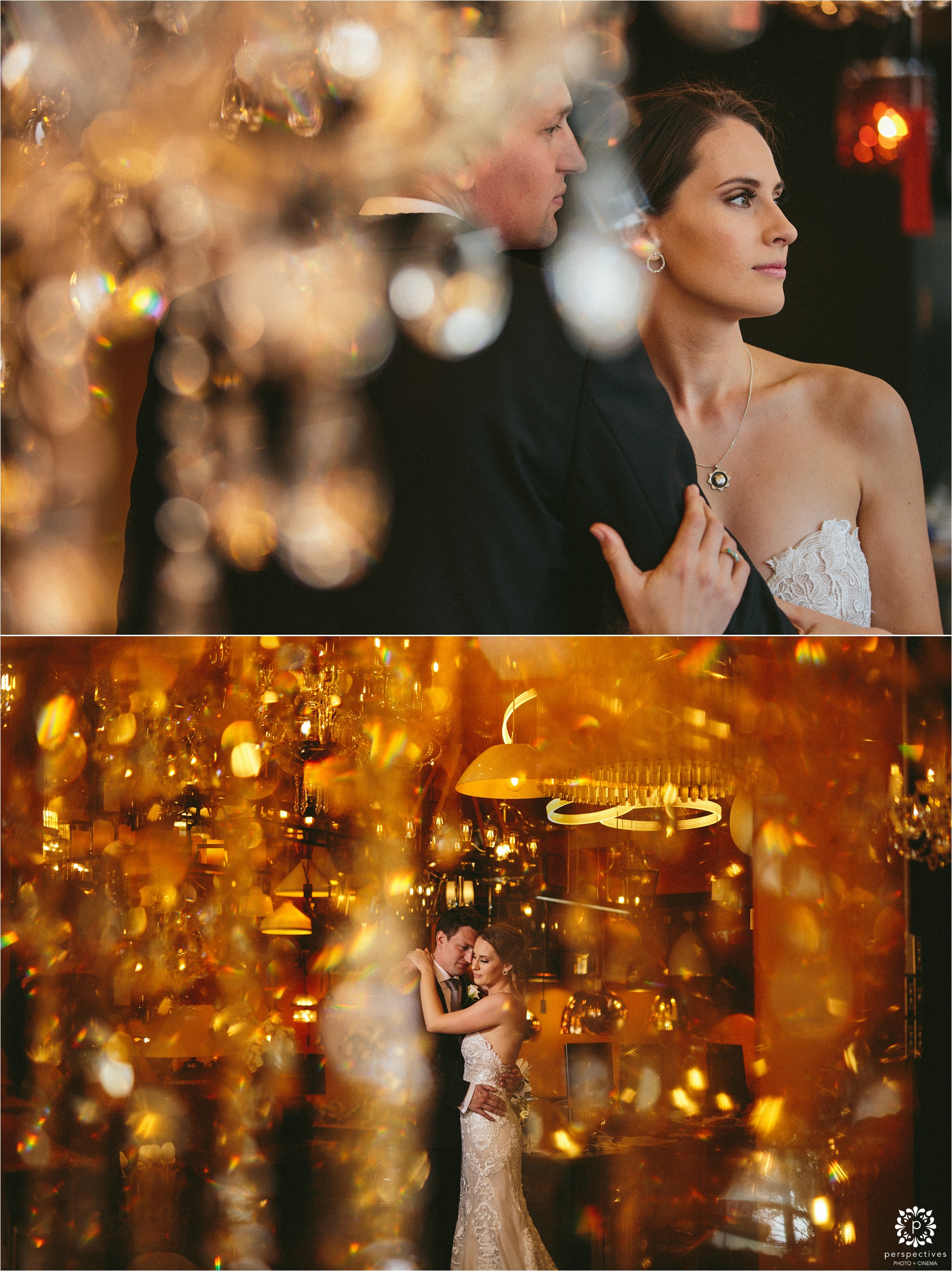 romantic wedding photos indoor lighting