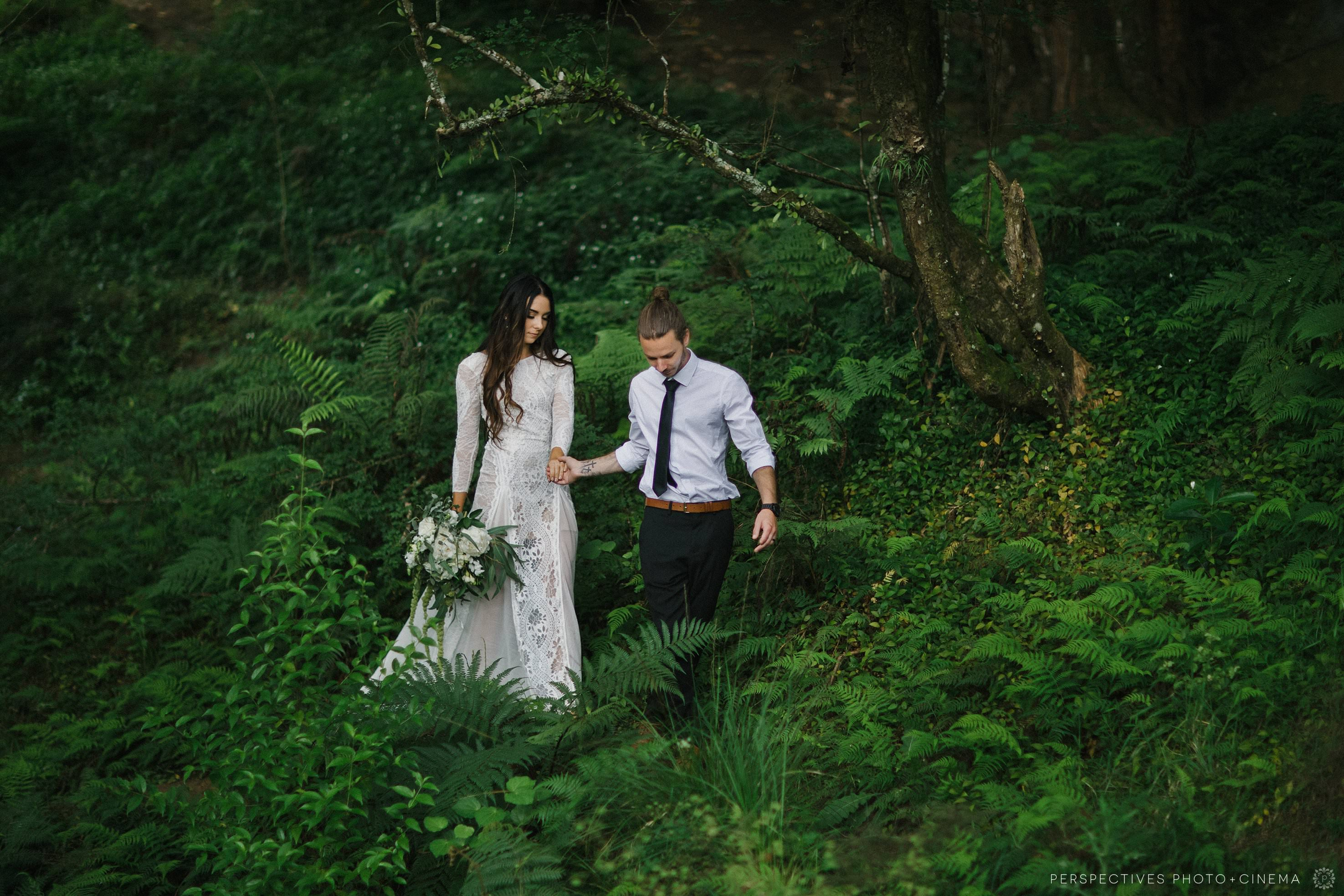 Forest wedding photo location