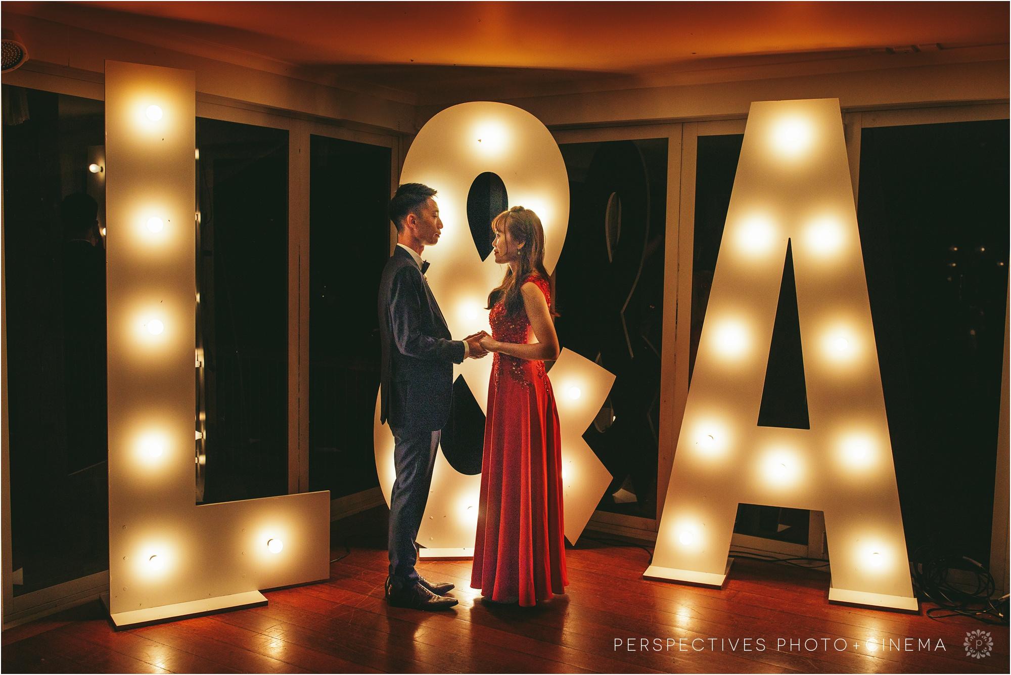 wedding sign lights