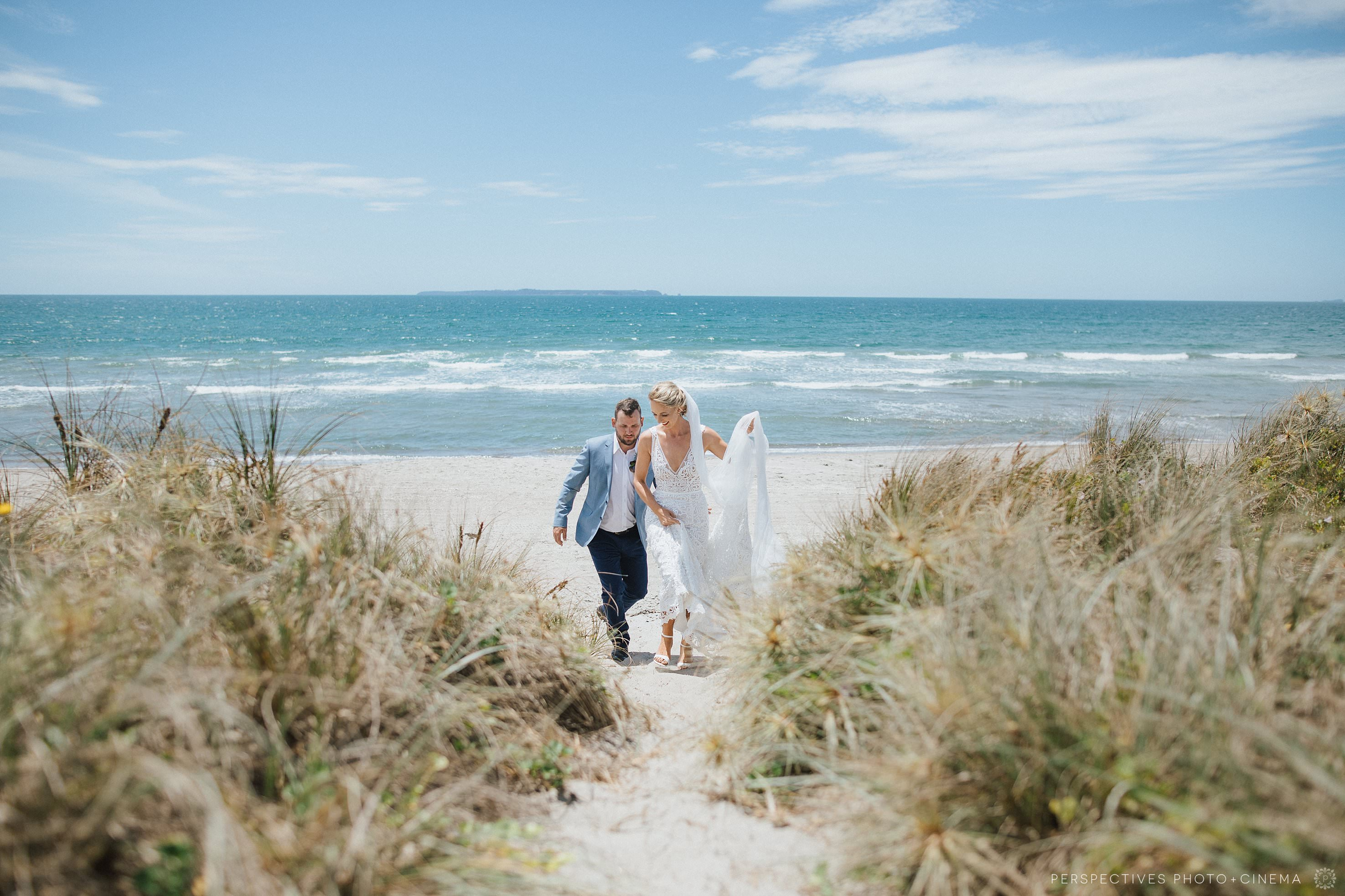 Papamoa beach wedding photos