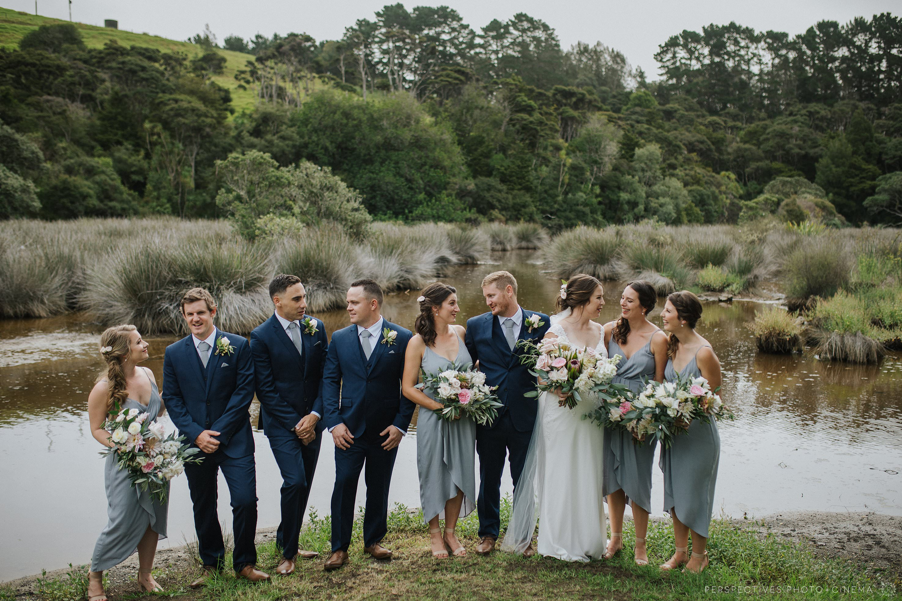 Tawharanui lodge wedding photos