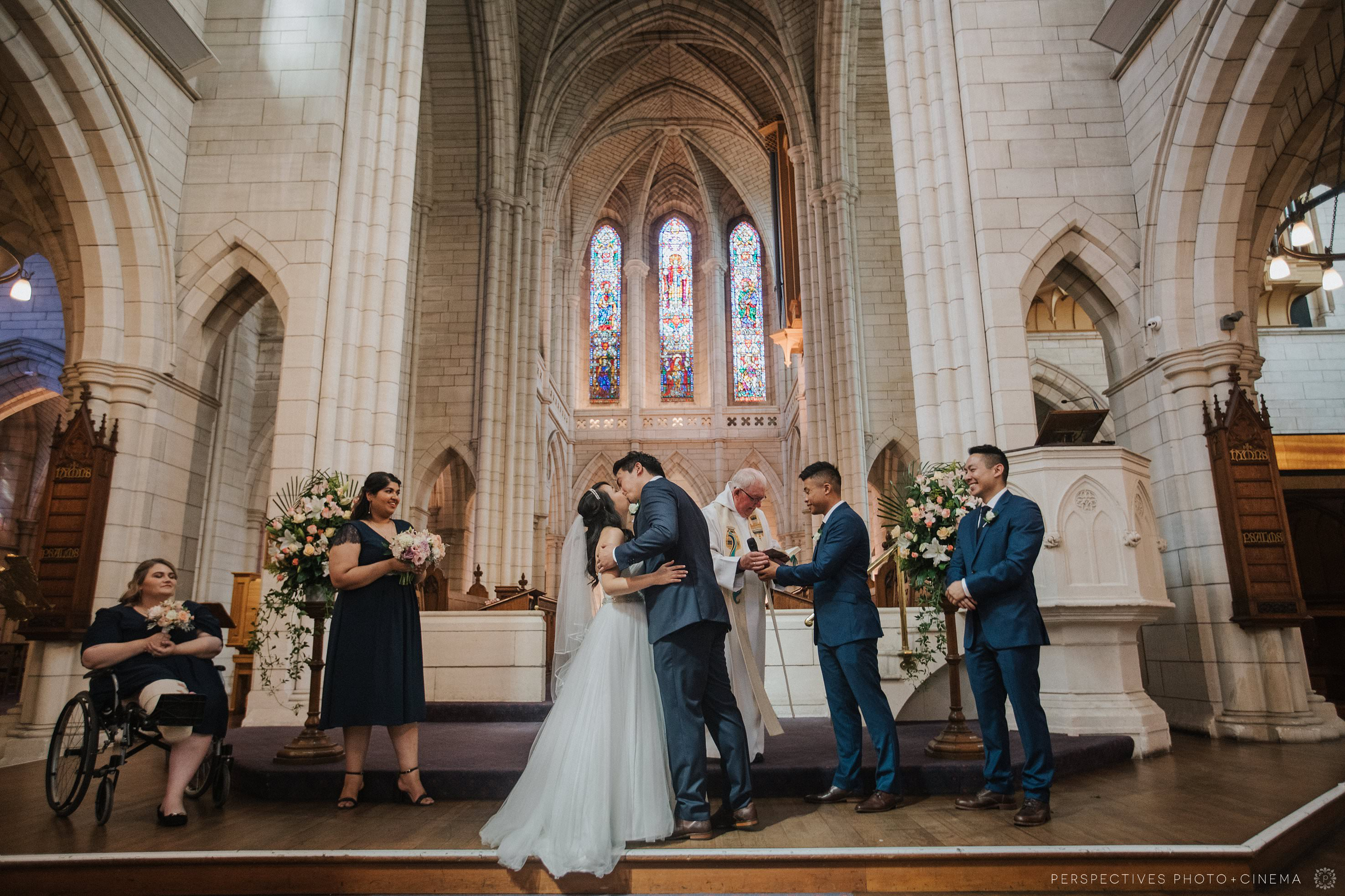 St Matthew in the City wedding Auckland