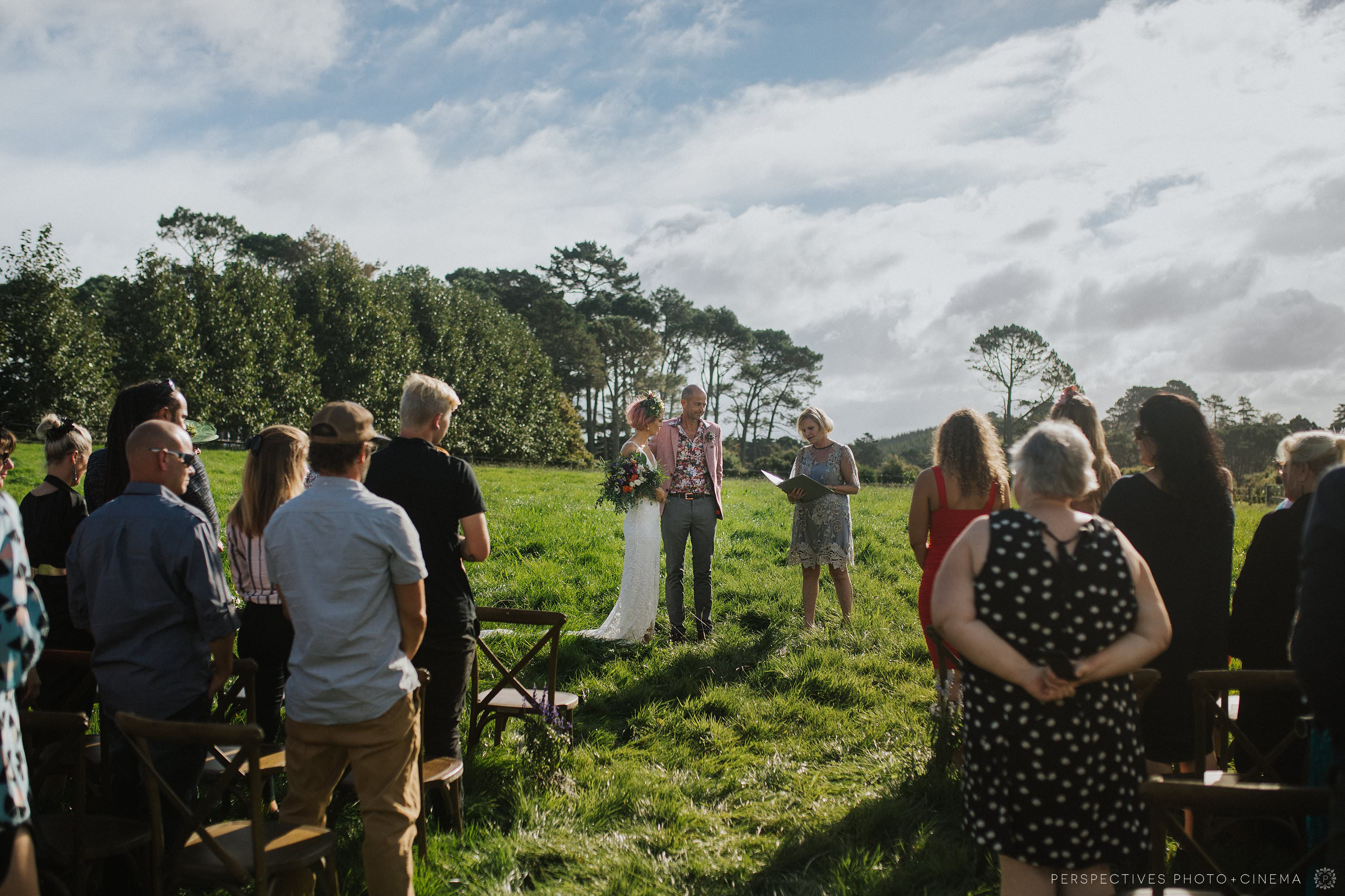 Farm wedding ceremony Auckland