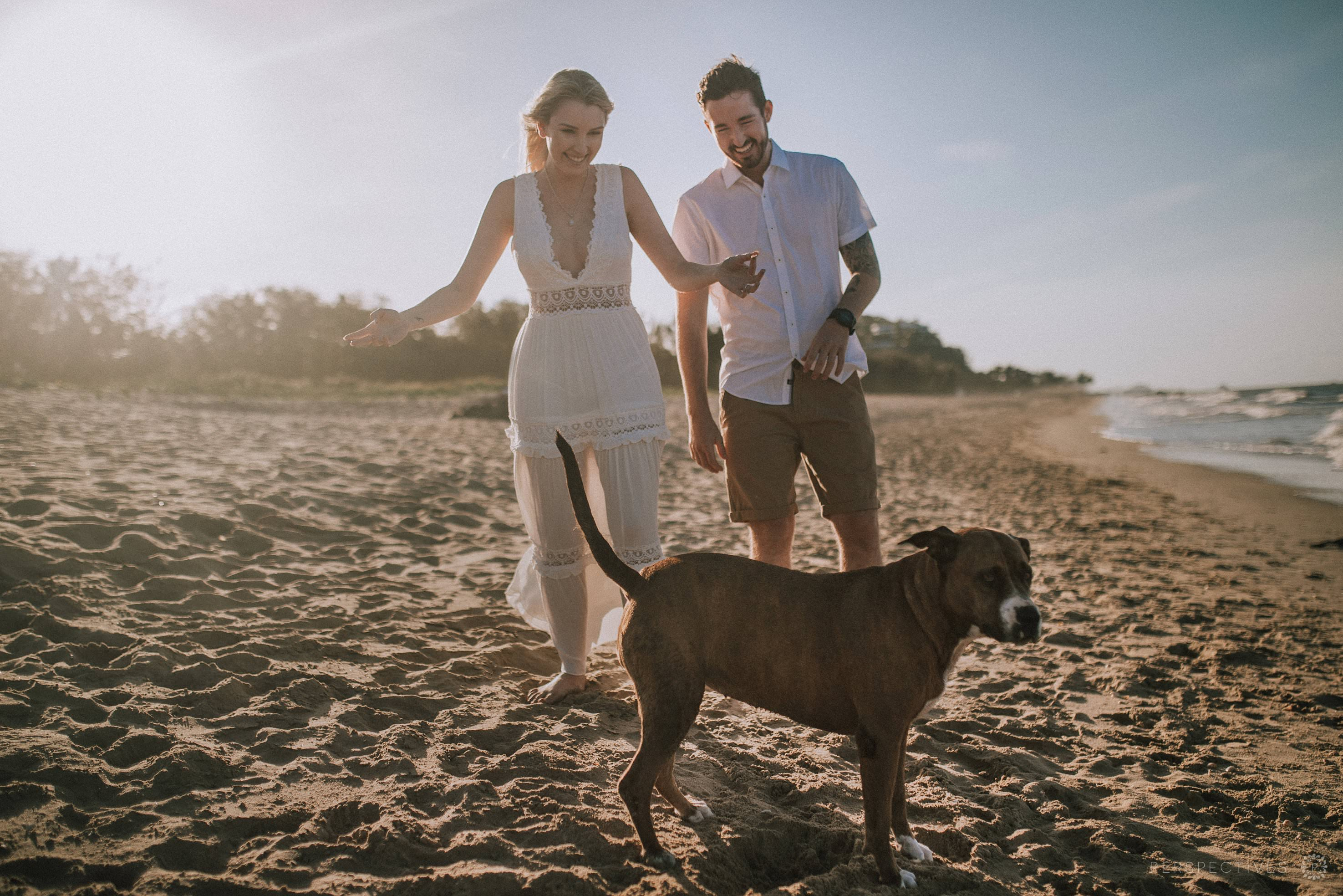 Auckland beach engagement session