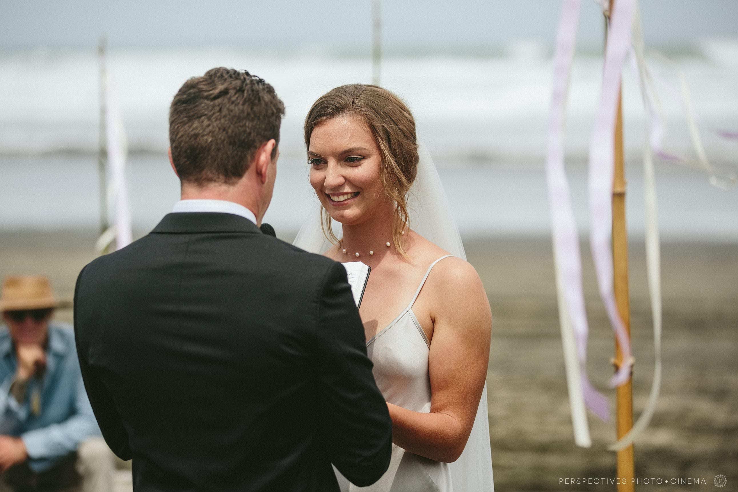 Piha Beach Auckland wedding ceremony vows