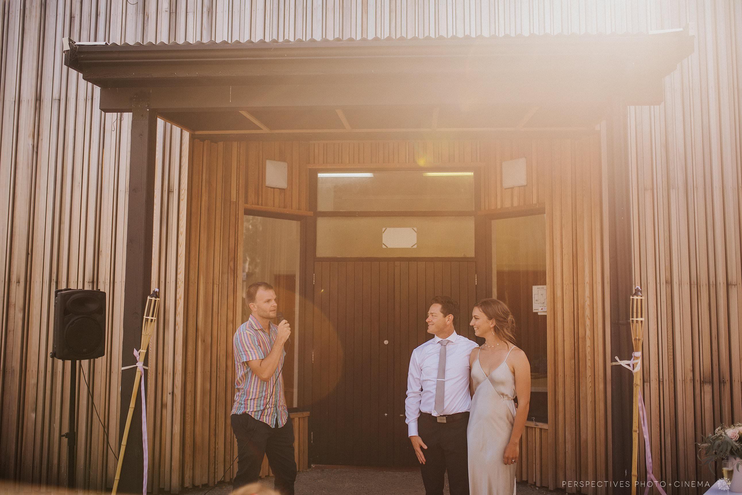 Barnett Hall Piha wedding ceremony