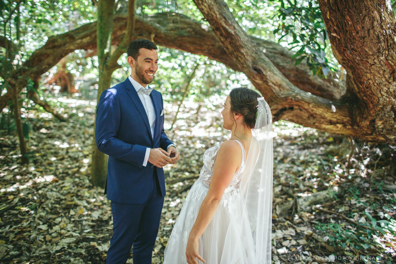 First look wedding new zealand