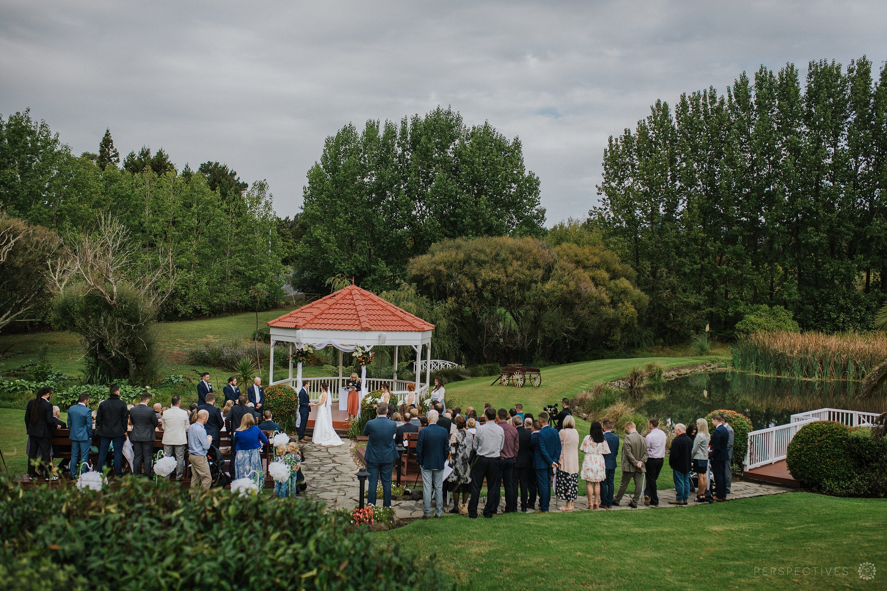 Ceremony location at Gracehill Kumeu wedding venue