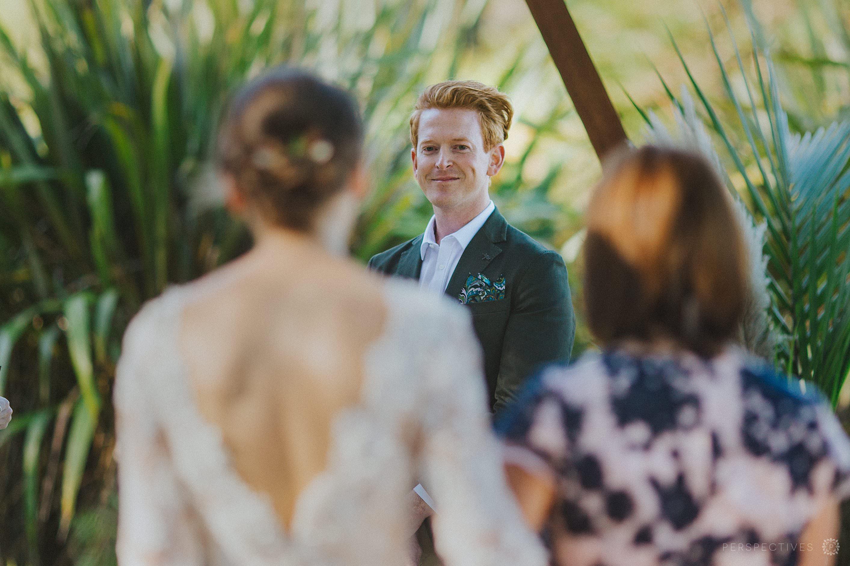 Wedding ceremony rustic DIY Auckland