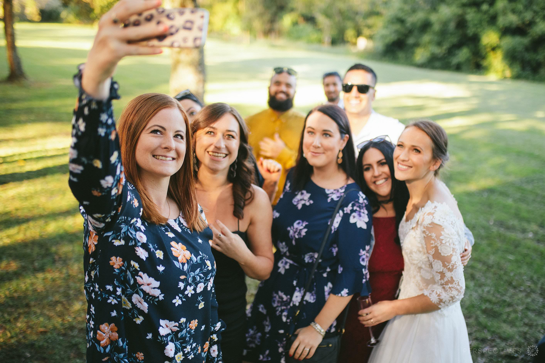 Wedding guests outdoor wedding venue Auckland