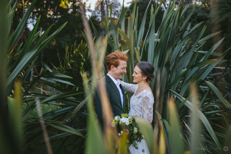 Wedding photos in flax grove Oratia Auckland