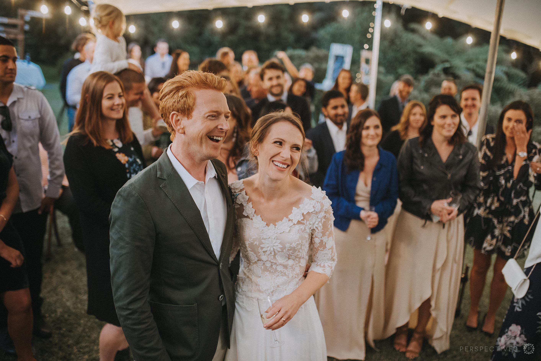outdoor wedding reception Auckland rustic DIY