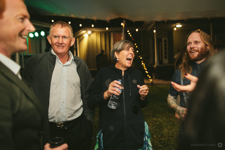 Auckland outdoor wedding reception dancefloor