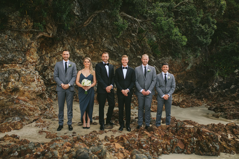 Waiheke Tantalus estate beach wedding photos